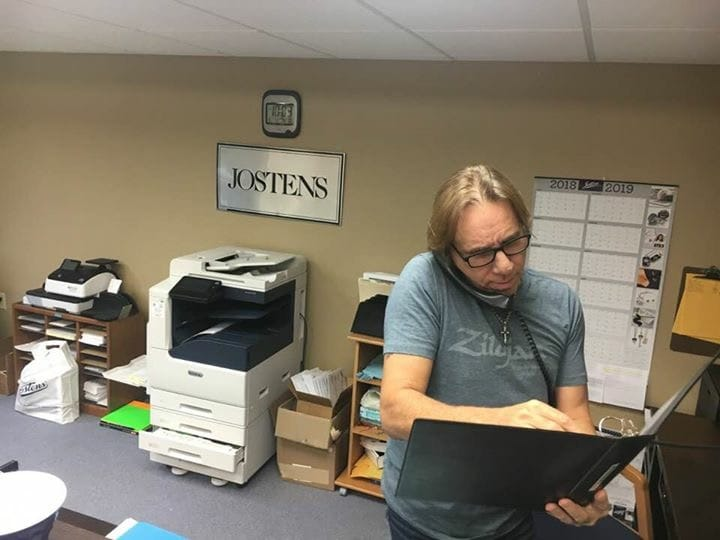 Troy at the Josten office